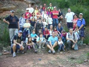 Membres de la primera excursió senderista del Club